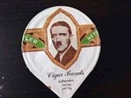 Swiss coffee company uses picture of Hitler's face on novelty milk lids
